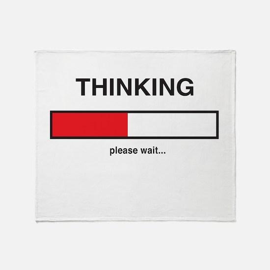 Thinking please wait... Throw Blanket
