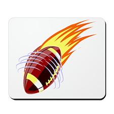 Flaming Football Mousepad