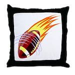 Flaming Football Throw Pillow