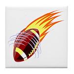 Flaming Football Tile Coaster