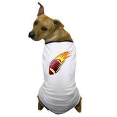 Flaming Football Dog T-Shirt