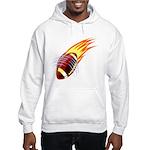 Flaming Football Hooded Sweatshirt