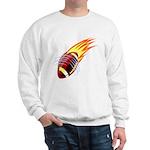 Flaming Football Sweatshirt