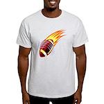Flaming Football Light T-Shirt