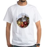 Chinchilla in Fall White T-Shirt