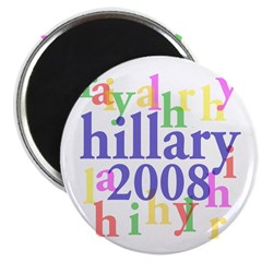 Hillary 2008 Colorful Magnet