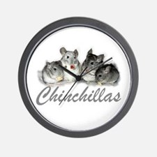 Chinchillas Wall Clock