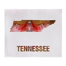 Cute Tennessee state Throw Blanket