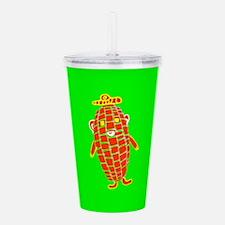 Cute Green Corn Captain Acrylic Double-wall Tumble