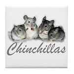 Chinchillas Tile Coaster
