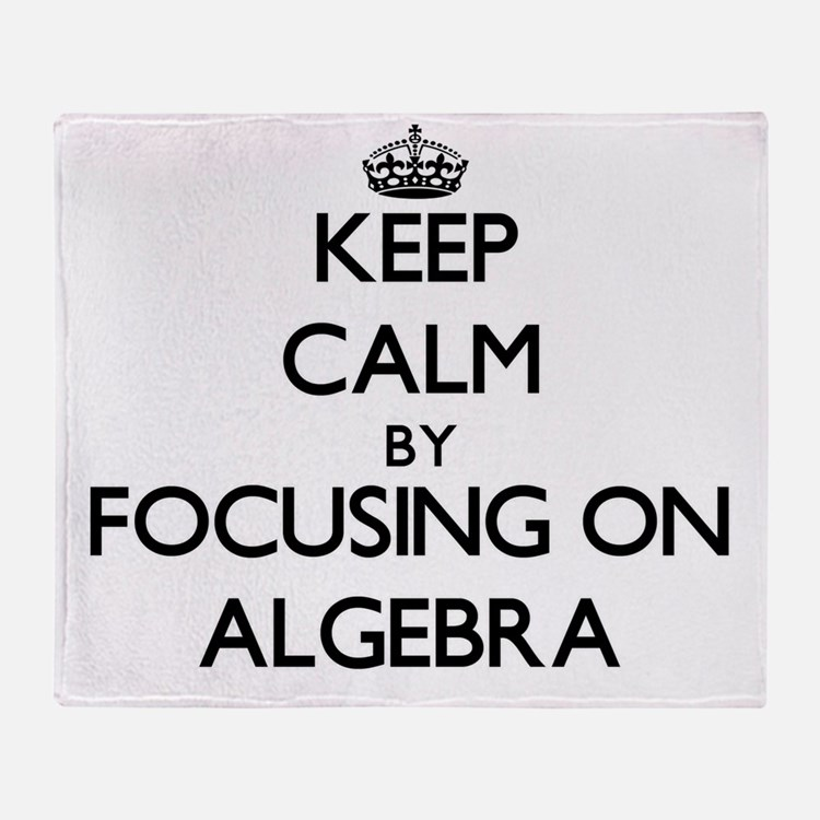 Cute I love algebra Throw Blanket