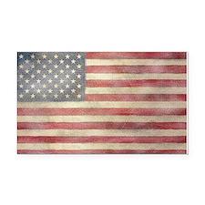 USA Vintage Flag Rectangle Car Magnet