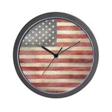 USA Vintage Flag Wall Clock
