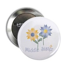 Summer Flowers Middle Sister Button