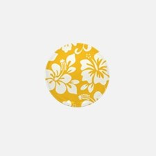 Yellow Hawaiian Hibiscus Mini Button