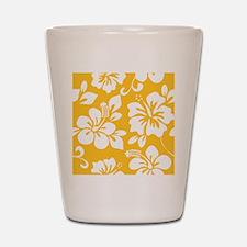 Yellow Hawaiian Hibiscus Shot Glass
