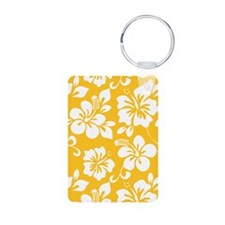 Yellow Hawaiian Hibiscus Keychains