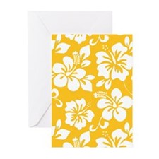 Yellow Hawaiian Hibiscus Greeting Cards