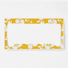 Yellow Hawaiian Hibiscus License Plate Holder