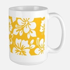 Yellow Hawaiian Hibiscus Mugs