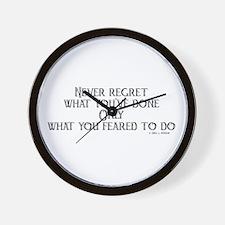 never regret Wall Clock