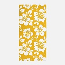 Yellow Hawaiian Hibiscus Beach Towel