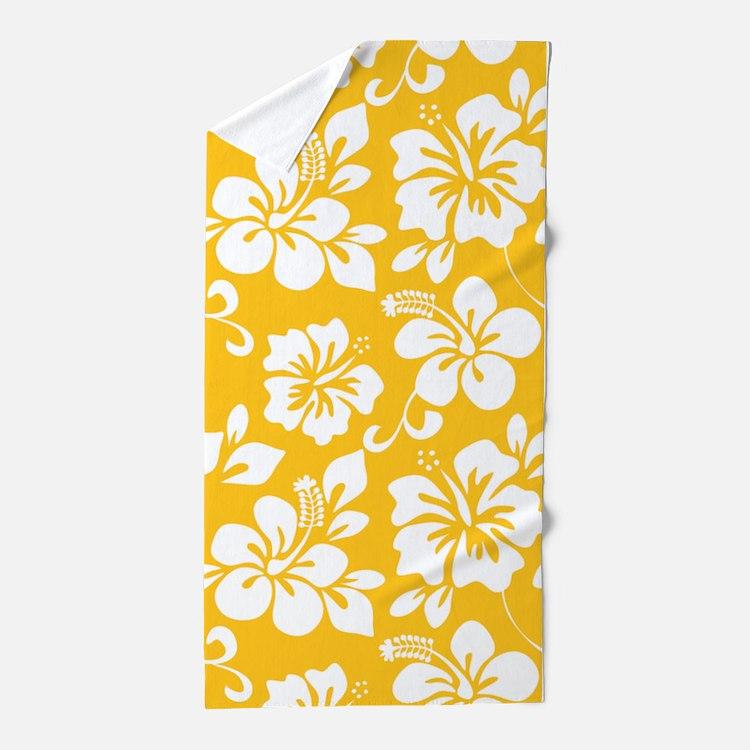 Hawaiian Beach Blanket: Yellow Beach Towels
