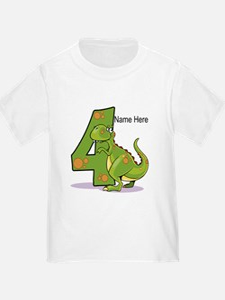 4th Birthday Dinosaur T