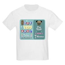 Pug Dog Bowling Tiki Night T-Shirt