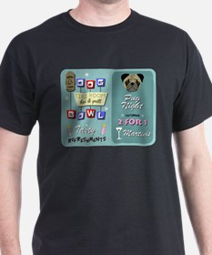 Pug Dog Bowling Tiki Night T-Shirt