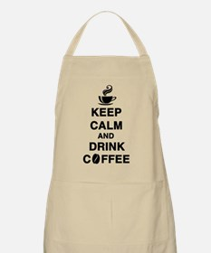 keep calm and drink coffee Apron