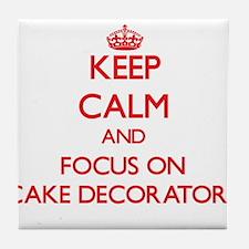Cool Cake decorator Tile Coaster