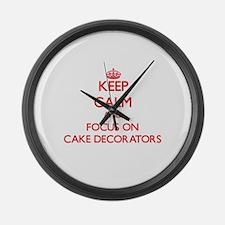Funny Cake decorator Large Wall Clock