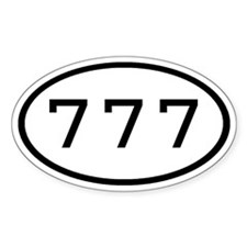777 Oval Oval Decal