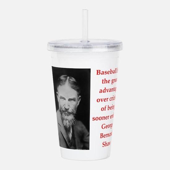 george bernard shaw quote Acrylic Double-wall Tumb
