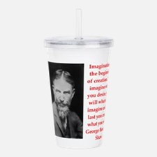 george bernard shaw quote Acrylic Double-wall Tumb