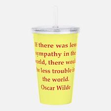 oscar wilde quote Acrylic Double-wall Tumbler