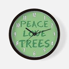 Peace Love Trees Wall Clock