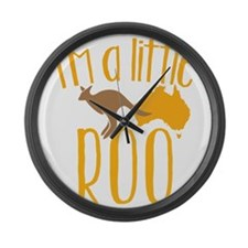 Cute Kangaroo Large Wall Clock