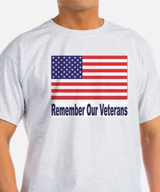 Remember Our Veterans Ash Grey T-Shirt