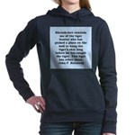 kennedy quote Women's Hooded Sweatshirt