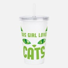 Cute Grumpy cat Acrylic Double-wall Tumbler