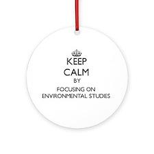 Cute I love environmental studies Ornament (Round)