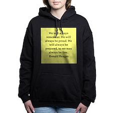 reagan21.png Women's Hooded Sweatshirt