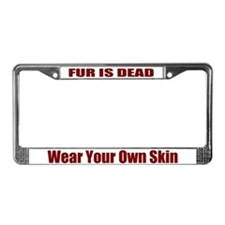 Fur Is Dead License Plate Frame