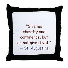 Continence Throw Pillow