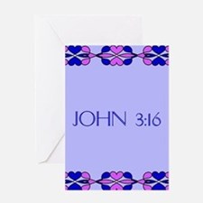 John 3:16 Bible Verse Greeting Cards