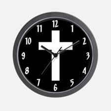 White Cross Wall Clock