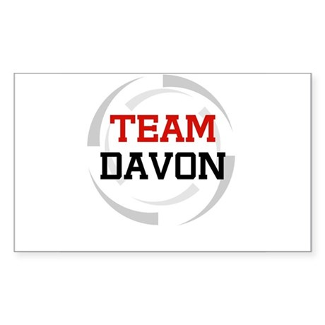 Davon Rectangle Sticker