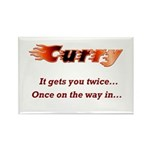 Burn it up with this Rectangle Magnet (100 pack)